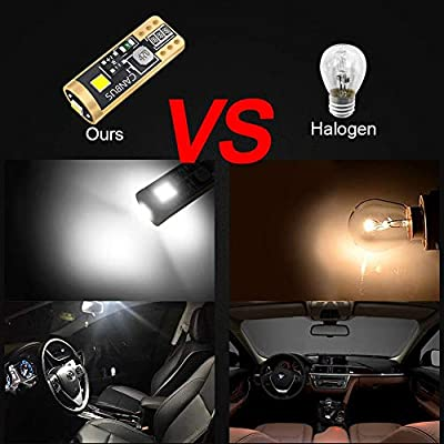 LncBoc T10 501 LED Bulbs W5W White 3-SMD 2016 LED 194 168 For Car Interior,Dashboard,Number Plate,Boot Sidelights Bulbs DC 12V one year warranty Pack of 2: Automotive