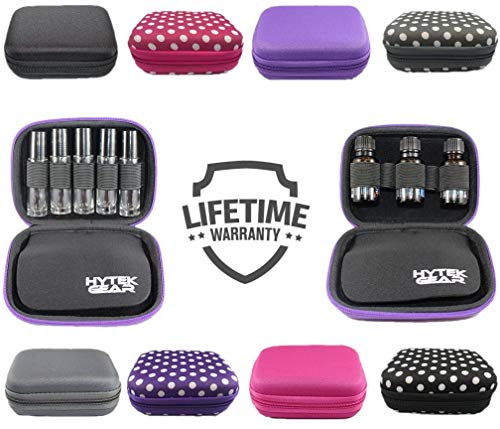 Essential Oil Carrying Case Holds 10 Bottles Perfect for Roller Bottles 5ml - 10ml Multiple Colors! (1 Pack, Purple)