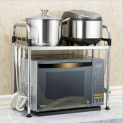 Hjyi - Estante de cocina de acero inoxidable grueso para ...