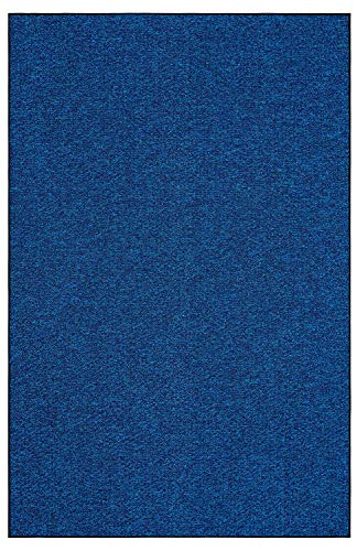 (Outdoor Artificial Turf Blue Lagoon Area Rugs with Premium Non Skid Backing Great for Decks, Patio's & Gazebo's to Pools, Docks & Boats and Other Outdoor Recreational Purposes 8'x10')