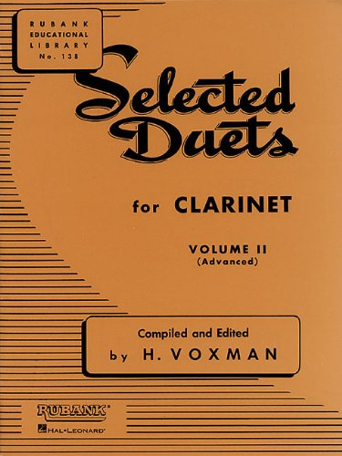 Selected Duets for Clarinet Volume 2 - Advanced (Tapa Blanda)