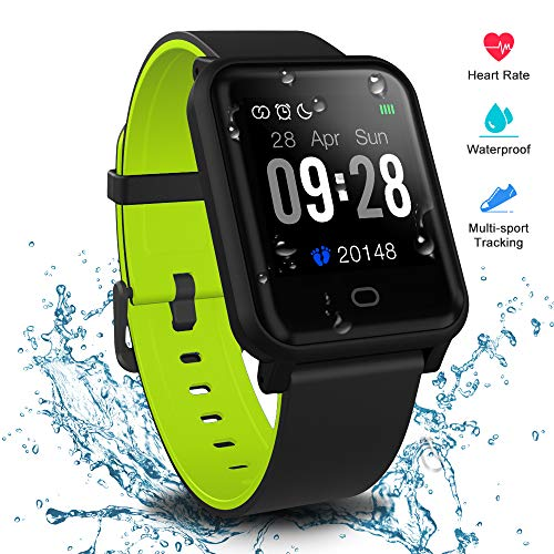 Fitpolo Health Smart Watch, Waterproof Fitness Tracker HR with Sleep Monitor, Step Calories Counter, Stopwatch, Breath…
