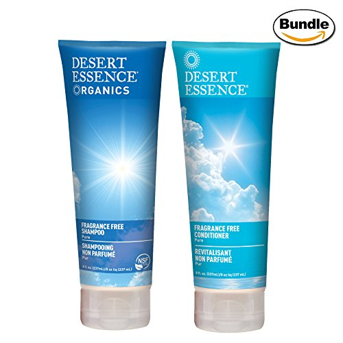 Desert Essence Fragrance Free Shampoo & Conditioner Bundle - 8 fl oz ea ()