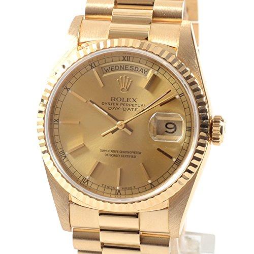 [ロレックス]ROLEX 腕時計 オイスターパーペチュアルデイデイト 18238 E番台(1990~91年) 中古[1300672] E番台(1990~91年) イエロー B07DPC2WLK