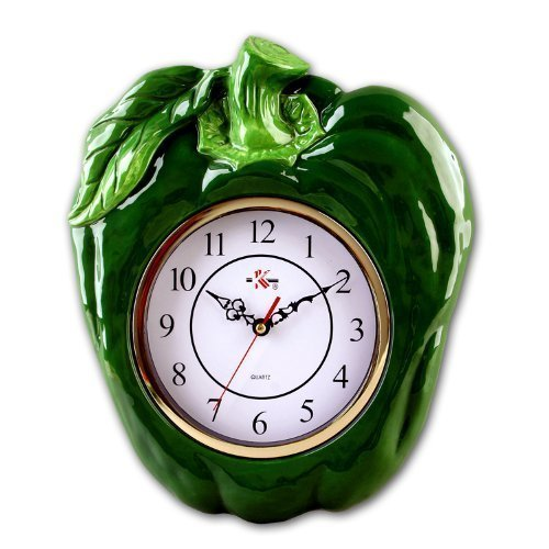 Green Bell Pepper 3-D -Surrounded Wall Clocks - Pepper wall decor