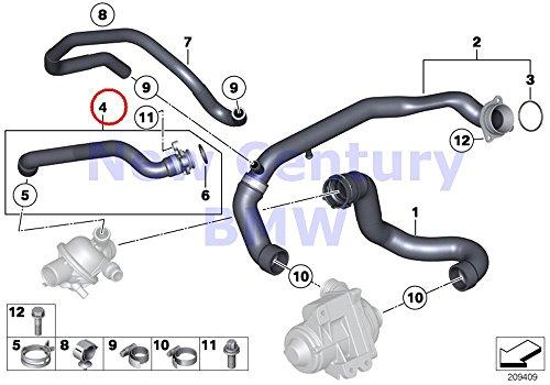 Genuine Bmw Cooling (BMW Genuine Cooling System Water Hoses Coolant Hose X5 35iX X6 35iX)