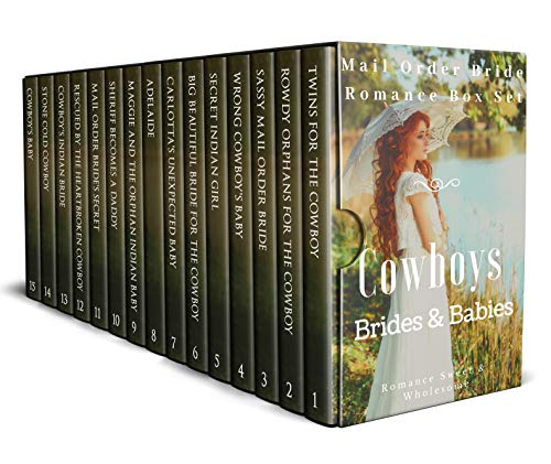 Cowboys Brides and Babies: A Mail Order Bride Romance Box Set by [Wright, Joyce, Rivers, Nancy, Rae, Caroline]