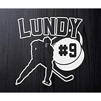 SOCCER Ball logo x2 Personalized with your Number Custom Vinyl decal Car Window