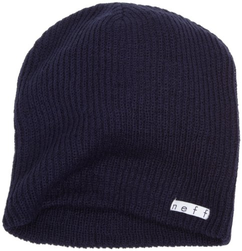 - Neff Unisex Daily Beanie, Warm, Slouchy, Soft Headwear, Navy, One Size