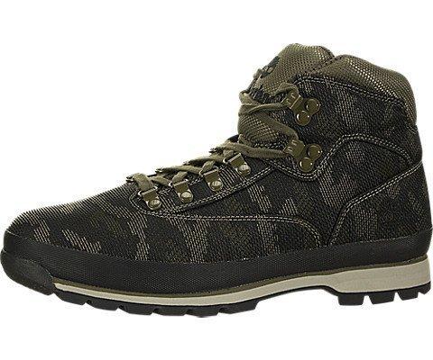 Timberland Mens Euro Hiker Fabric Hiking Boot, Black/Camo, Size 9 -