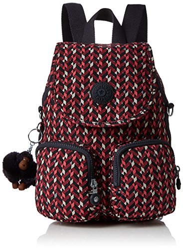 Kipling Up Women's pink Firefly Backpack Multicolour Chevron f1Zxfqrw