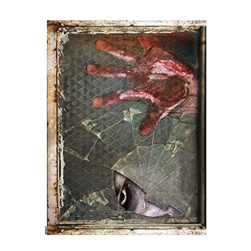 lightclub Halloween Party Peeping Eye Bloody Hand Sticker Wall Decoration Horror Decal 1]()