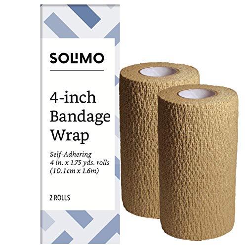 Amazon Brand - Solimo Self-Adhering Bandage, 4