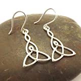 Handmade 925 Sterling Silver Celtic Mother and Child Knot Hoop Earring