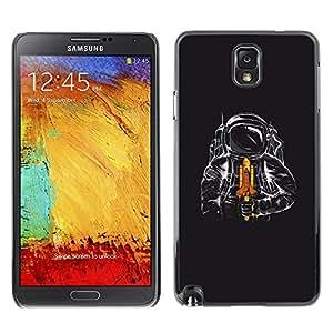 TECHCASE**Cubierta de la caja de protección la piel dura para el ** Samsung Galaxy Note 3 N9000 N9002 N9005 ** Space Shuttle Astronaut