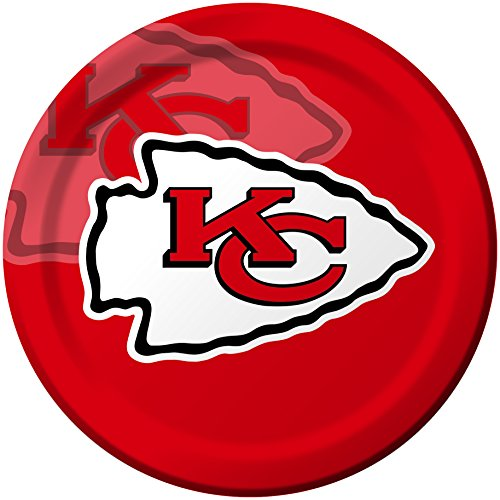 Creative Converting 8 Count Kansas City Chiefs Paper Dinner Plates ()