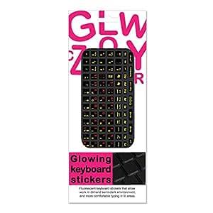 Funkeyboard Designer Keyboard Sticker - Glowing Pink