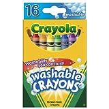 Crayola 52-6916 Regular Washable Crayons 16 Count