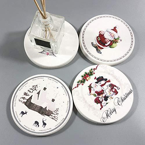Aoruisier 1pcs Ins Diatom Mud Absorbent Coaster Environmental Plant Waterproof Round Leaves Absorbent Pad by Aoruisier (Image #7)