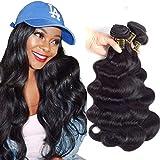 QTHAIR 12A Brazilian Virgin Hair Body Wave 20' 18' 16' 300g Natural Black 100% Unprocessed Virgin Brazilian Body Wavy Human Hair Weave 3 Bundles Brazilian Body Wave Human Hair Extensions