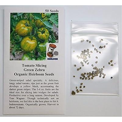David's Garden Seeds Tomato Slicing Green Zebra SL2276 (Green) 50 Non-GMO, Organic, Heirloom Seeds : Tomato Plants : Garden & Outdoor