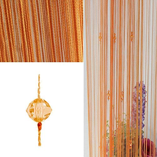 - OMG_Shop 100x200 cm Fashion Decoration Beaded String Curtain Door Divider Crystal Beads Tassel Screen Home Decoration