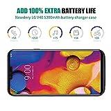 Newdery LG V40 ThinQ Battery Case, 5200mAh Slim