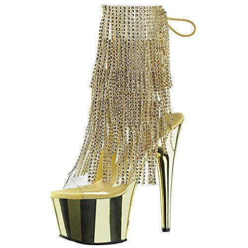 Heels-Perfect - Botas de Material Sintético para mujer Gold (Gold)