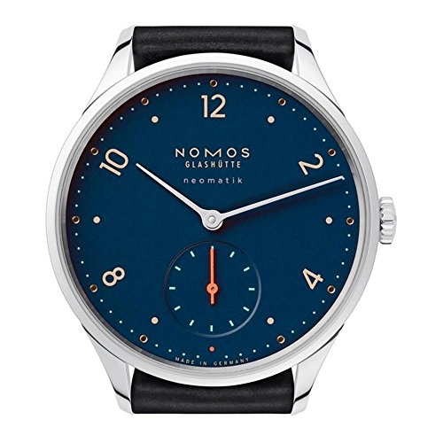 Nomos Glashuette Women's Minimization Of Night Blue 35.5mm Leather Band Steel Case Automatic Watch 1205