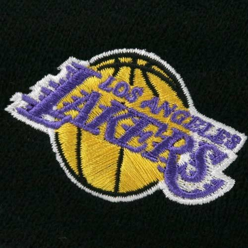 NBA adidas Los Angeles Lakers Black Knit Beanie Cap by adidas