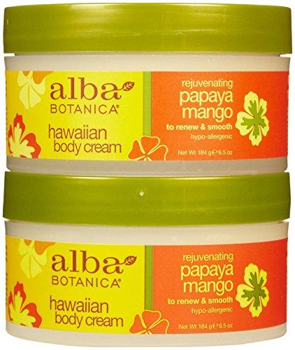 Alba Mango Moisturizer - Alba Botanica Hawaiian Moisturizing Body Cream - Papaya Mango - 6.5 oz - 2 pk