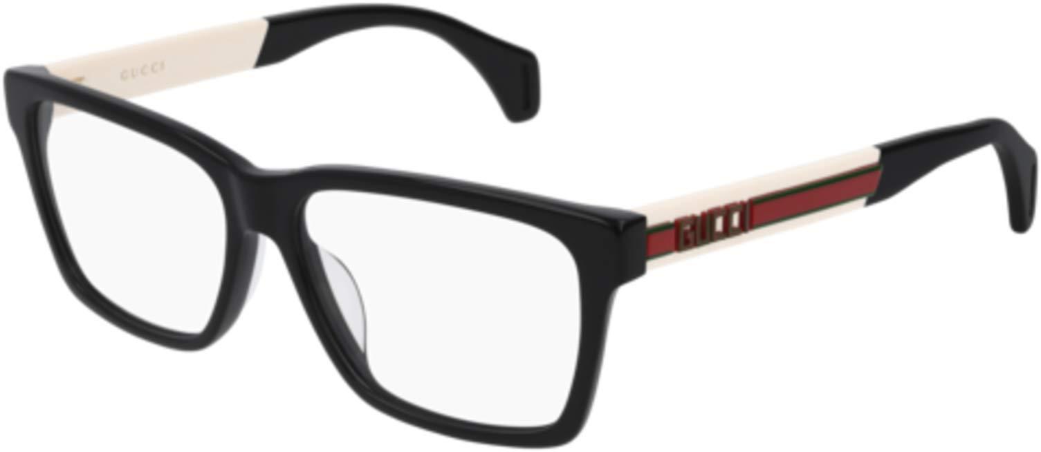 Eyeglasses Gucci GG 0464 O- 005 BLACK/WHITE by Gucci