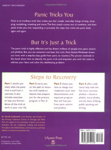 51bNByrbP5L - Panic Attacks Workbook: A Guided Program for Beating the Panic Trick