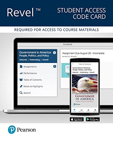 Revel for Government in America: People, Politics, and Policy, 2016 Presidential Election Edition -- Access Card (17th E