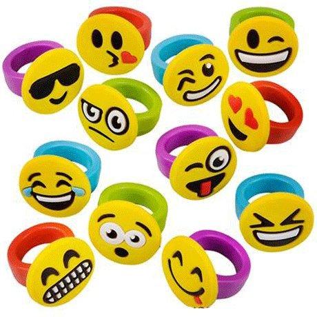 Emoji Emoticon Rubber Rings - 24 (Emoji Ring)