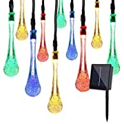 XDlight Solar String Lights, 8 Modes 16.5 FT 30 LED Multi Color Outdoor Waterproof Fairy Light for Christmas,Patio,Garden,Xmas,Yard,Garden Decoration. ...
