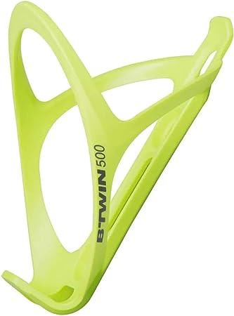 BTWIN 500 - Portabotellas para bicicleta, color amarillo neón, universal, estable y ligero, diseño elegante