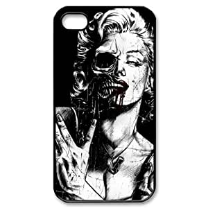Zombie Marilyn Monroe iPhone 4/4s Case Hard Protective iPhone 4/4s Case Black and White by runtopwell