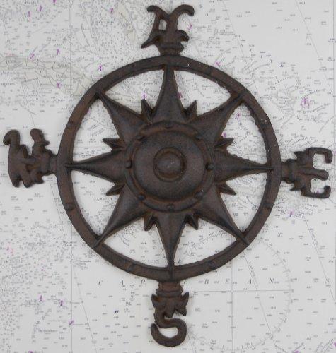 Iron Compass Rose Nautical Plaque product image