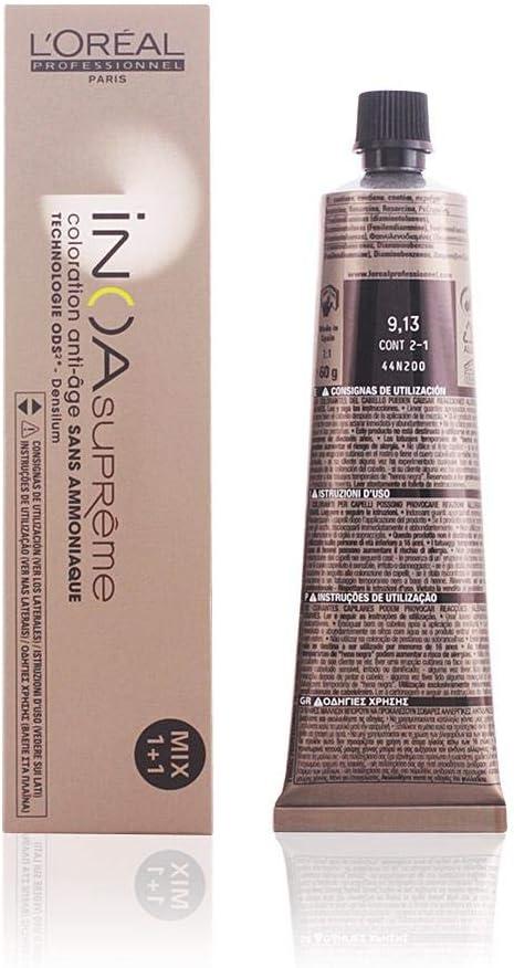 LOreal Inoa Supremecoloration Anti-Age Sans Amoniaque #9,13 60 Gr 1 Unidad 60 g