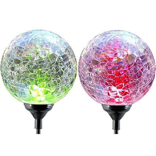solar globe lights oxyled crystal glass led light solar stake light color changing outdoor. Black Bedroom Furniture Sets. Home Design Ideas