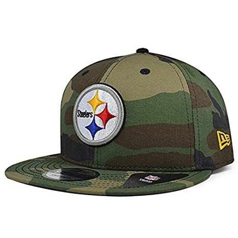 save off b99c3 50987 Image Unavailable. Image not available for. Color  Pittsburgh Steelers New  Era NFL Woodland Camo 9Fifty Snapback Adjustable Hat