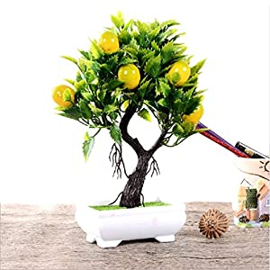Artificial Fruit Orange Apple Lemon Tree Bonsai For Wedding Party Home Decoration Fake Green Pot Plants Flowers Ornaments 11