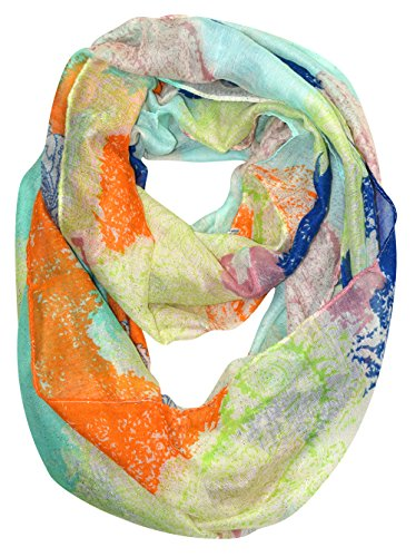 Peach-Couture-Shimmering-Rainbow-Paisley-Sparkle-Infinity-loop-Scarf
