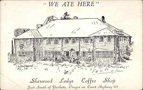 Sherwood Lodge Coffee Shop Yachats, Oregon Original Vintage Postcard