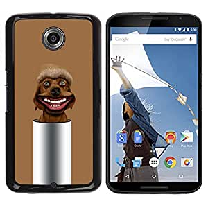 YiPhone /// Prima de resorte delgada de la cubierta del caso de Shell Armor - Brown Chocolate Mutt Dog Retriever - Motorola NEXUS 6 / X / Moto X Pro
