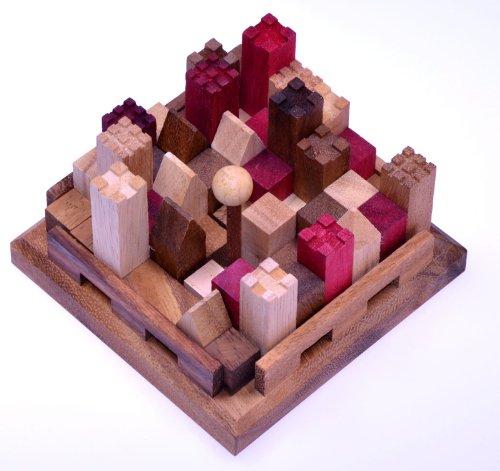 Castle - Burg - 3D Puzzle - Denkspiel - Knobelspiel - Geduldspiel aus Holz mit vielen Spielvarianten
