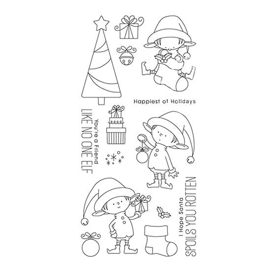 zmigrapdn - Troquel y sello de acero al carbono, diseño de árbol de Navidad Stamp: Amazon.es: Hogar