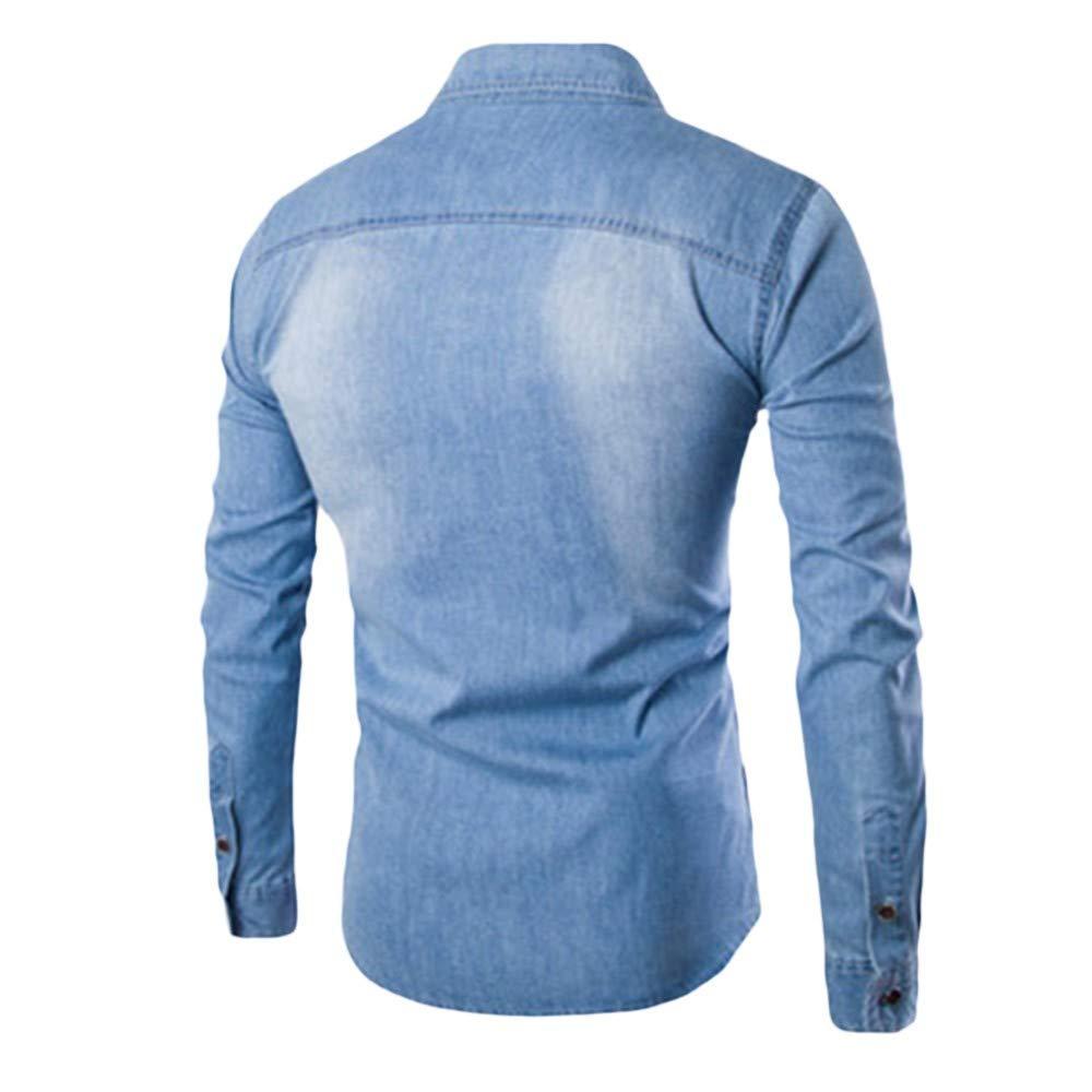 Bleu Clair 3XL Trydoit Manches Longues en Coton à Manches Longues à Manches Longues T-Shirt