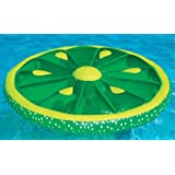 Swimline 60-Inch Inflatable Heavy-Duty Swimming Pool Lime Slice Float | 9054